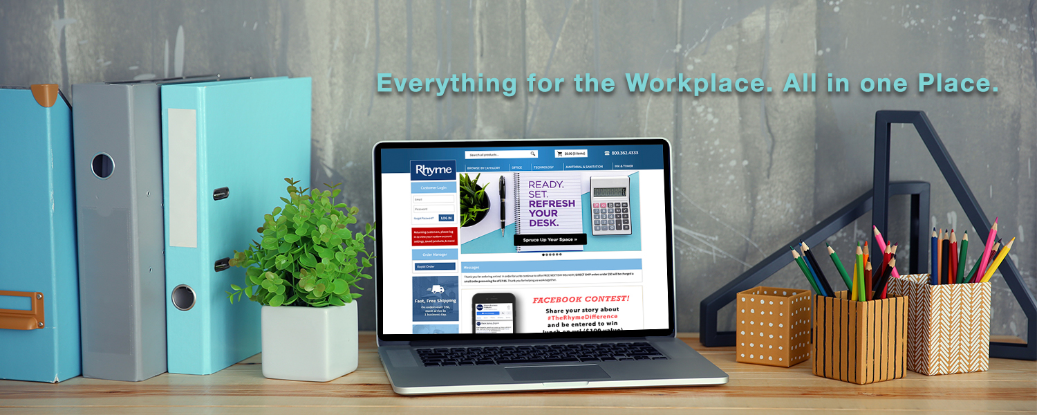 Order Online Anytime - Workplace Essentials, Facility Supplies, Office Furniture & more!